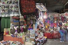 Pamiątka rynek w Aguas Calientes Zdjęcia Royalty Free