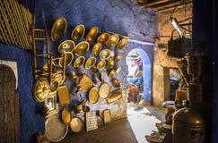 Pamiątka w Souk rynku Marrakech, Maroko Obrazy Royalty Free