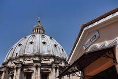 Pamiątkarski sklep na dachu St Peter obraz stock