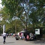 Pamiątkarski sprzedawca Blisko central park, Manhattan, NYC, NY, usa Obraz Stock