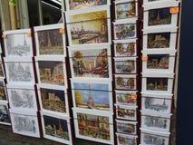 Pamiątkarskie pocztówki, Paryski Francja zdjęcia stock