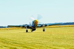 Pamiątkowy Airshow WW II P51 Randolph mustang Obrazy Stock