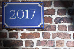 Pamiątkowy rok 2017 Zdjęcia Stock