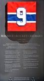 Pamiątkowy talerz 9 Maurice rakieta Richard Fotografia Royalty Free