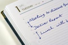 pamiętnik jest dzisiaj Zdjęcie Stock