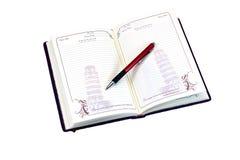 pamiętnik otwarte Obraz Royalty Free