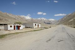 Pamir Highway in Tadjikistan Royalty Free Stock Photography
