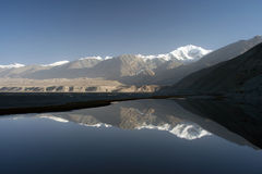 The pamir mountains. View of the majesty of Northern Hymalaya, the Pamir Stock Photo