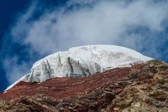Pamir mountains cold snow ice glacier stock image