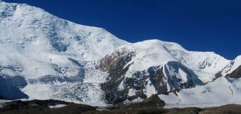 Pamir mountains. Pamir high mountains in Kirgyzstan, Middle Asia. Mountaineereng, hiking and climbing Pik Lenin Royalty Free Stock Photo