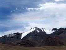 Pamir Mountains over the rainbow, Tajikistan Royalty Free Stock Photos