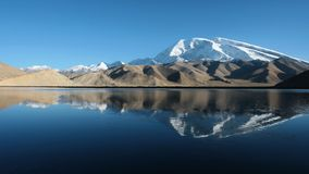 The pamir snow mountain Stock Images