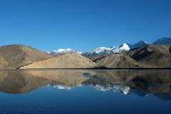 The pamir snow mountain Royalty Free Stock Image