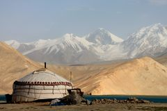 Pamir travel adventures Stock Photos