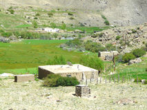 Pamiri house. The house of the peasant in the Mountainous Badakhshan region of Tajikistan Stock Photography