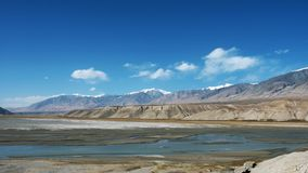 Pamirs altiplano lake Royalty Free Stock Photos