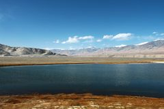 Pamirs altiplano lake Stock Photos