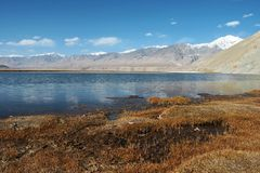 Pamirs altiplano lake Royalty Free Stock Images