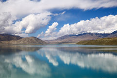 The Pamirs of clouds and lakes Stock Images