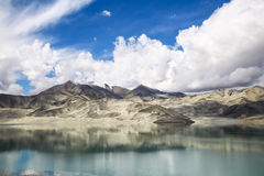The Pamirs of clouds and lakes Stock Image