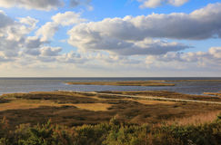 Pamlico Sound Marshland Sea Grasses Salvo North Carolina Outer Banks. Pamlico Sound is the largest East Coast saltwater lagoon and estuary bordered by marshland stock photos