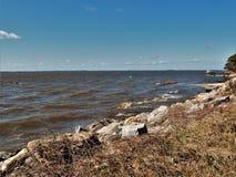 Pamlico-Ton auf Nord-Carolina Outer Banks lizenzfreies stockbild
