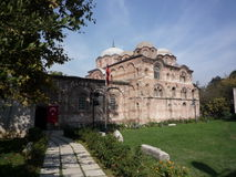 THE PAMMAKARISTOS CHURCH, CONSTANTINOPLE. Byzantine Pammakaristos Church in Istanbul, ancient Constantinople, XI-th -XII-th centuries, ex-siege of Greek Orthodox royalty free stock image