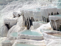 Pammukale. View on terraces in Pammukale in Turkey Stock Photography