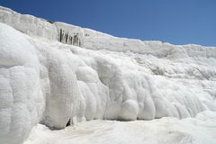 Pamukkale terraces. Calcium terraces in Pamukkale Turkey Royalty Free Stock Photography