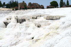 Pamukkale terraces. Calcium terraces in Pammukale Turkey Stock Images