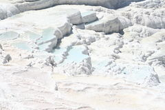 Pamukkale terraces. Calcium terraces in Pamukkale Turkey Royalty Free Stock Images