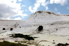 Pammukale. The travertines of calcium. Hierapolis archaeology Museum. The Turkish UNESCO World Heritage Site. Turkish resort, the. Unique thermal water rich in Stock Image