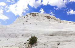 Pammukale. The travertines of calcium. Hierapolis archaeology Museum. The Turkish UNESCO World Heritage Site. Turkish resort, the. Unique thermal water rich in Royalty Free Stock Photos
