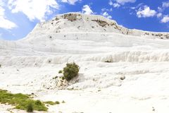 Pammukale. The travertines of calcium. Hierapolis archaeology Museum. The Turkish UNESCO World Heritage Site. Turkish resort, the. Unique thermal water rich in Stock Photo