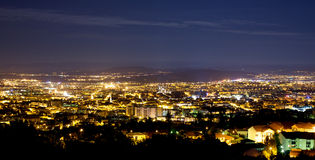 Pamorama of Clermont-Ferrand by night, Auvergne Fr Royalty Free Stock Image