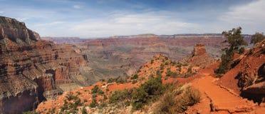 Pamorama of the Kaibab Trail, Grand Canyon Royalty Free Stock Photography