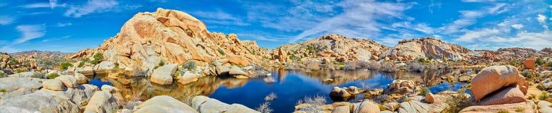 Pamoramic View of Barker Dam. At Joshua Tree National Park royalty free stock photo