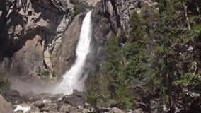 Yosemite waterfall, low part stock video