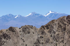 Pampa El Leoncito National Park with the Aconcagua, Argentina Royalty Free Stock Photography