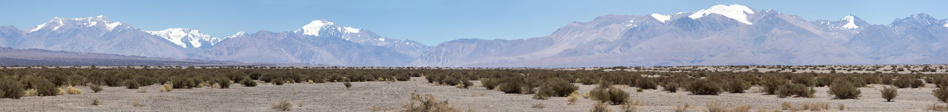 Pampa El Leoncito National Park and clear blue sky, Argentina Royalty Free Stock Images