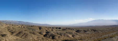 Pampa El Leoncito National Park and clear blue sky, Argentina Royalty Free Stock Photos
