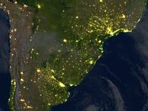 Pampa la nuit sur terre de planète Photos stock