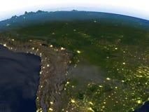 Pampa la nuit sur terre de planète Images stock