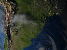 Pampa la nuit sur terre de planète Image stock