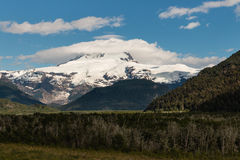 Pampa Linda with Tronador mountain and glacier Royalty Free Stock Photography