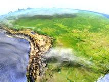 Pampa na realistycznym modelu ziemia ilustracji