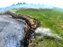 Pampa na ziemi - widoczna ocean podłoga ilustracji