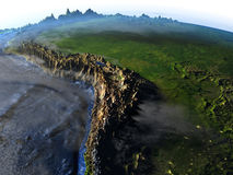 Pampa na ziemi - widoczna ocean podłoga royalty ilustracja