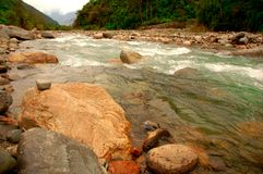 Pampa River. A sacred river in Peru Royalty Free Stock Photo