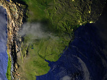 Pampa sur le modèle réaliste de la terre Photographie stock